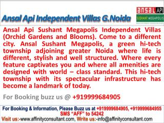 ansal megapolis independent villas greater noida@09999684905
