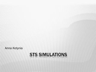 STS  SIMULATIONS
