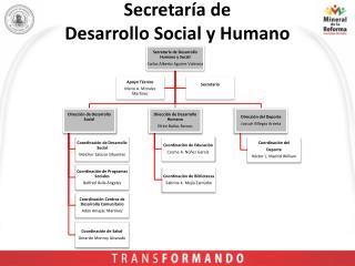 Secretaría de  Desarrollo Social y Humano