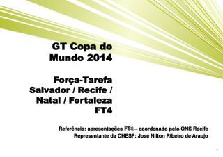 GT Copa do  Mundo 2014 Força-Tarefa  Salvador / Recife / Natal / Fortaleza FT4