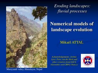 Numerical models of landscape evolution