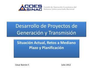 Desarrollo de Proyectos de Generación y Transmisión