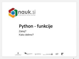 Python  - funkcije