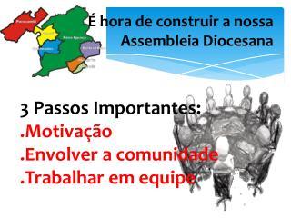 É hora de construir a nossa Assembleia Diocesana