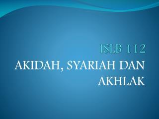 ISLB 112