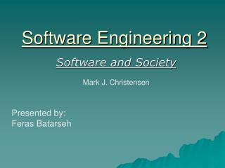 Software Engineering 2