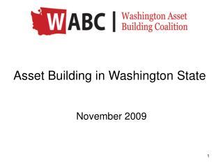 Asset Building in Washington State