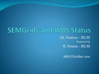 SEMGrids  and WBS  Status
