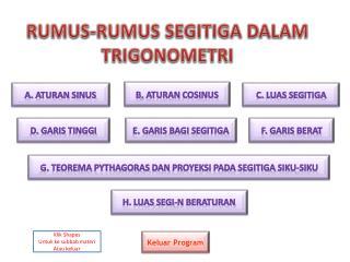 R UMU S-R UMUS  S EGITIGA  D ALAM  T RIGONOMETRI
