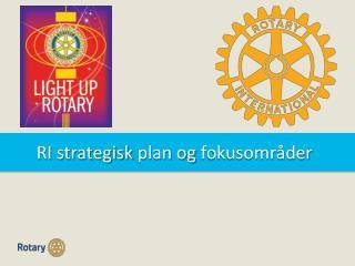 RI  strategisk  plan  og fokusområder