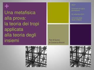 Una metafisica  alla prova: la teoria dei tropi applicata  alla teoria degli insiemi