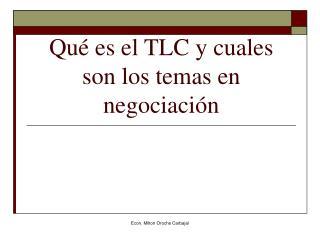 Qu  es el TLC y cuales son los temas en negociaci n