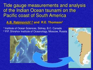 Tide gauge measurements and analysis of the Indian Ocean tsunami on the Pacific coast of South America