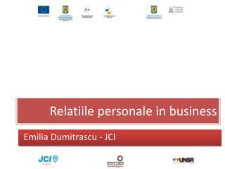 Relatiile personale  in business
