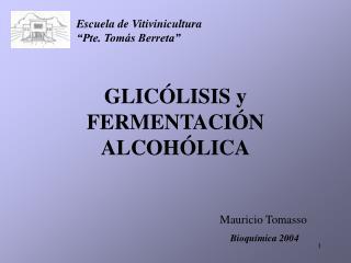 GLIC LISIS y FERMENTACI N ALCOH LICA