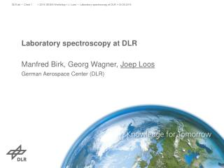 Laboratory spectroscopy at DLR