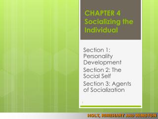 CHAPTER 4 Socializing the Individual