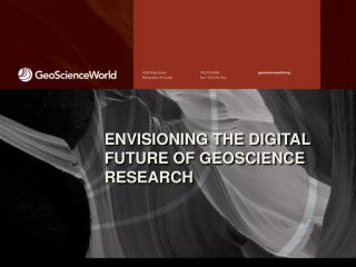 ENVISIONING THE DIGITAL FUTURE OF GEOSCIENCE RESEARCH