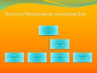 Structuur Marokkaanse  oranisaties  Ede