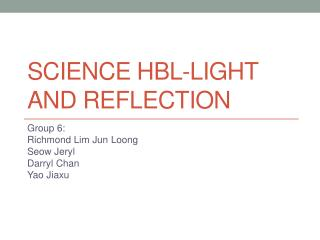 Science  hbl -light and reflection