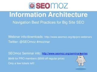 Information Architecture Navigation Best Practices for Big Site SEO