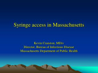 Syringe access in Massachusetts