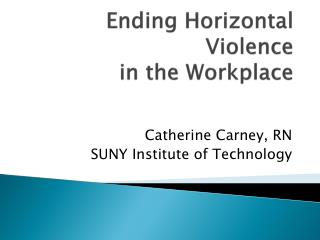 lateral violence in the work place What is workplace violence workplace violence is violence or the threat of violence against workers it can occur at or outside the workplace and can range from.