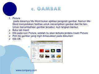 c. GAMBAR