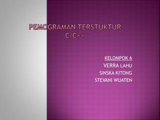 PEMOGRAMAN TERSTUKTUR C/C++