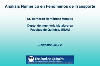 Análisis Numérico en Fenómenos de Transporte