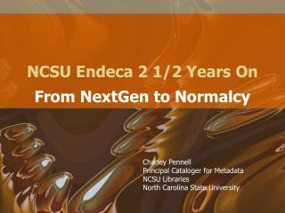 NCSU Endeca 2 1