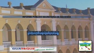 INFORME  PÚBLICO  SECRETARÍA  DE HACIENDA