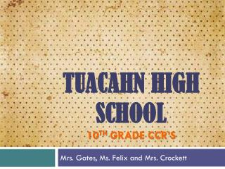 Tuacahn  high School 10 th  Grade CCR'S