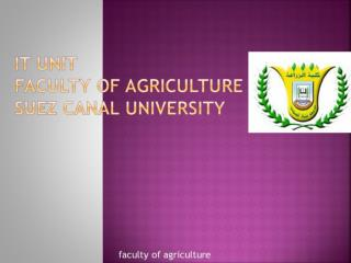 it unit faculty of agriculture Suez canal university