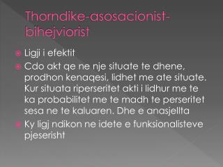 Thorndike-asosacionist-bihejviorist