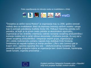 Preko zapošljavanja do inkluzije osoba sa invaliditetom u Srbiji