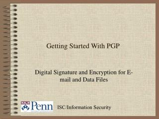 Getting Started With PGP