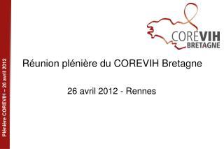 Réunion plénière du COREVIH Bretagne