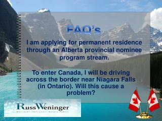 I am applying for permanent residence through an Alberta pro