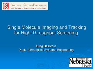 Single Molecule Imaging and Tracking  for  High-Throughput Screening