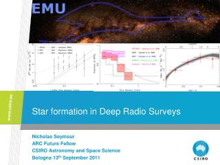 Star formation in  Deep Radio Surveys