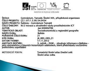 ŠKOLA:Gymnázium, Tanvald, Školní 305,  příspěvková organizace