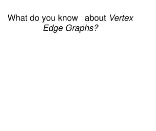 What do you know 