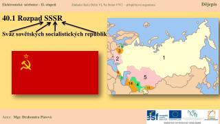 40.1 Rozpad SSSR
