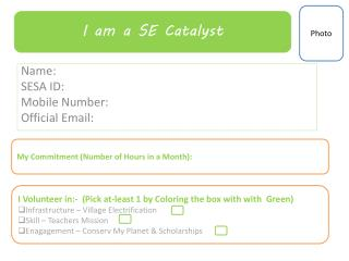 Name: SESA ID: Mobile Number: Official Email: