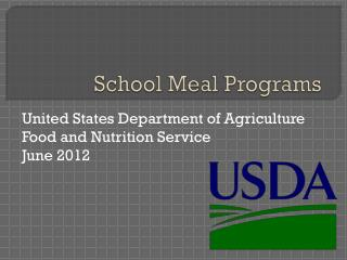 School Meal Programs