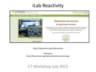 CT Workshop July 2012