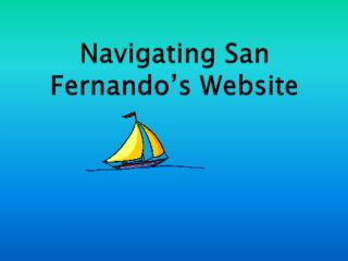 Navigating San Fernando's Website