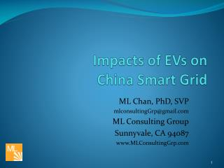 Impacts of EVs on  China Smart Grid