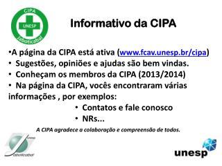 Informativo da CIPA